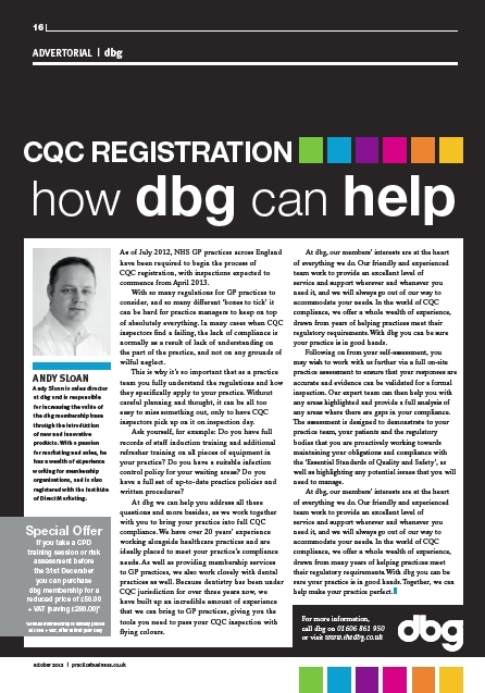 Practice Business, CQC registration