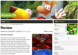 Rayman DS Review Example