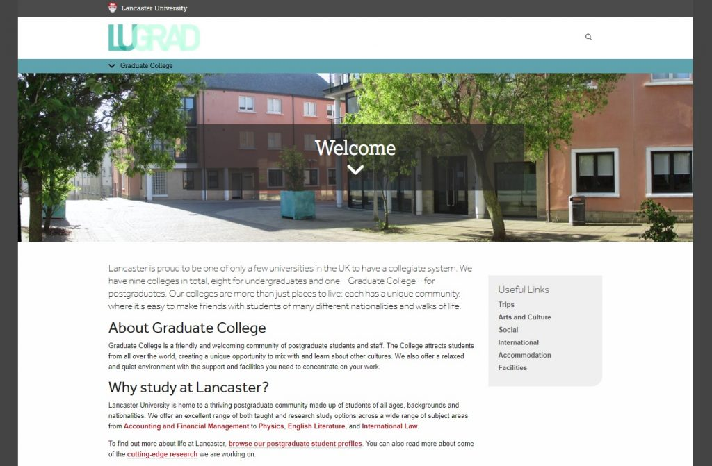 Graduate College at Lancaster University