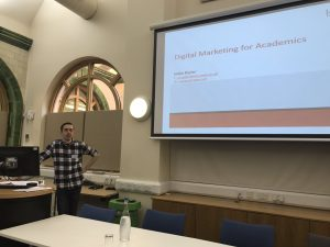 Mike Ryder, 'Digital Marketing for Academics' at the AHRC's NWCDTP Conference October 2017