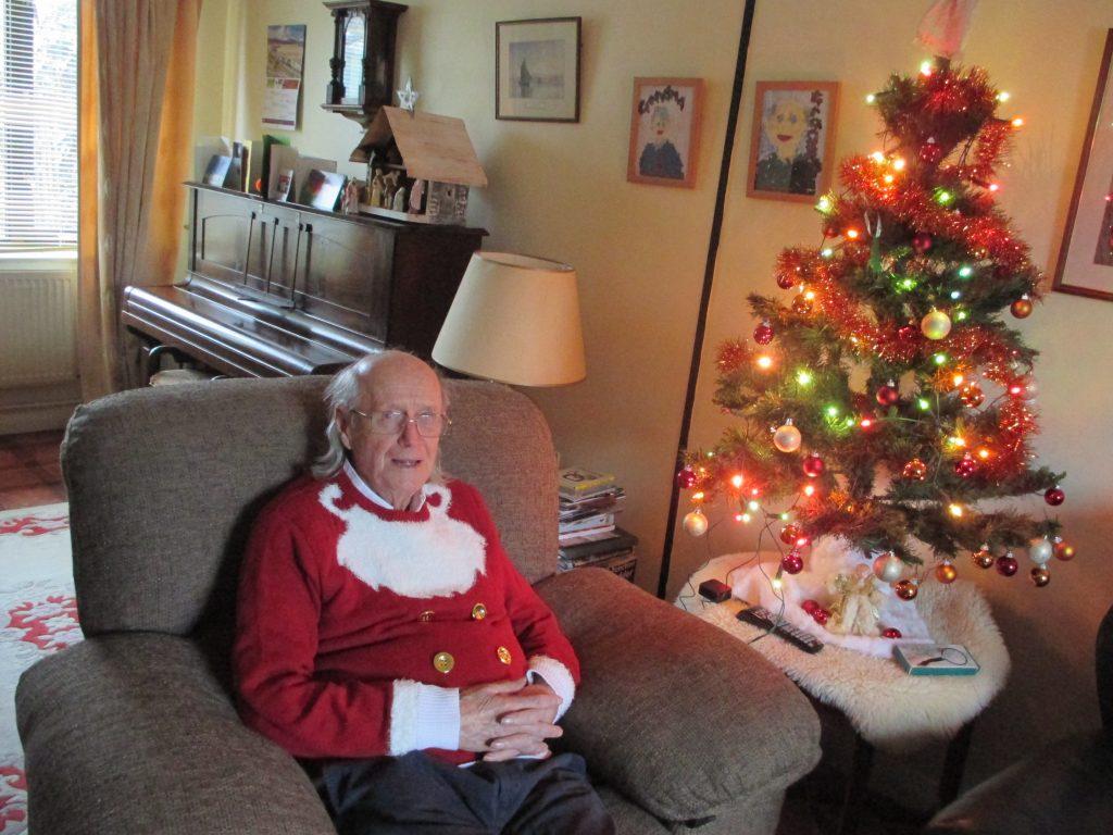 Grandpa Tom at home, December 2017