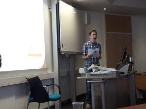 M.J. Ryder at After Fantastika, Lancaster University July 2018