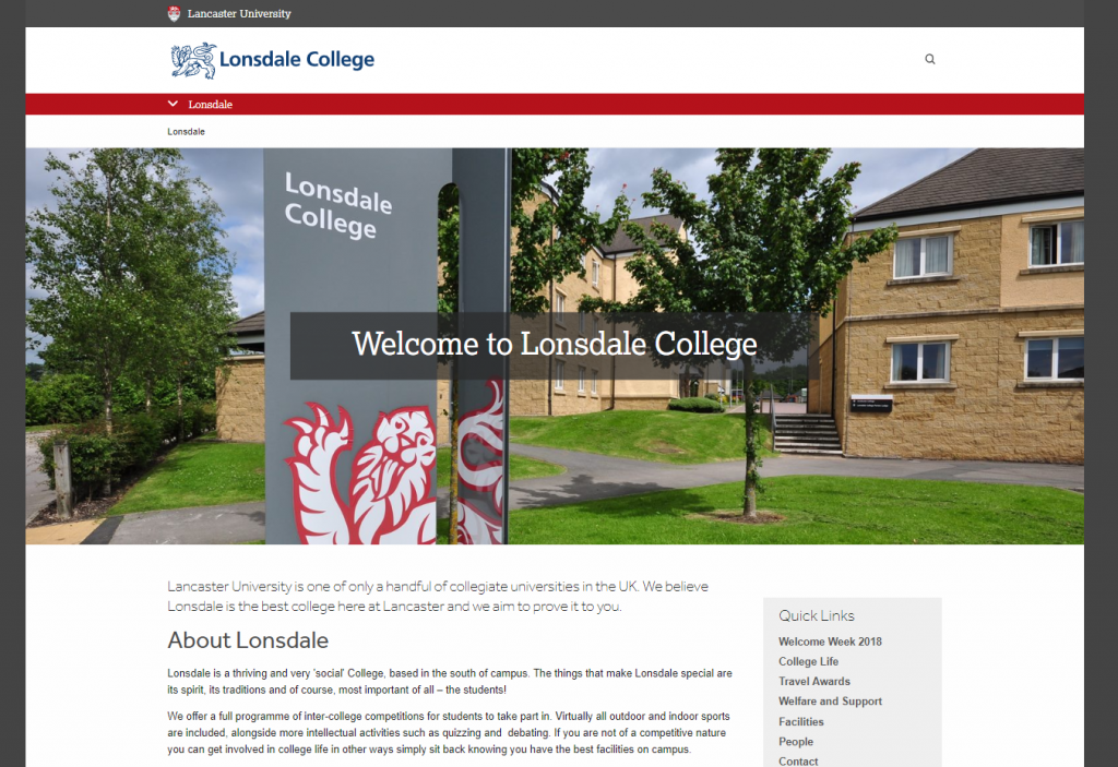 New Lonsdale College website launched August 2018