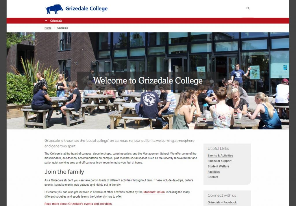 Grizedale College new website