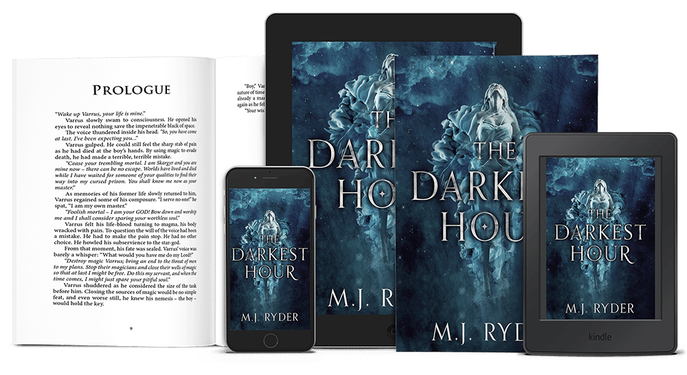 The Darkest Hour by M.J. Ryder, on a selection of devices
