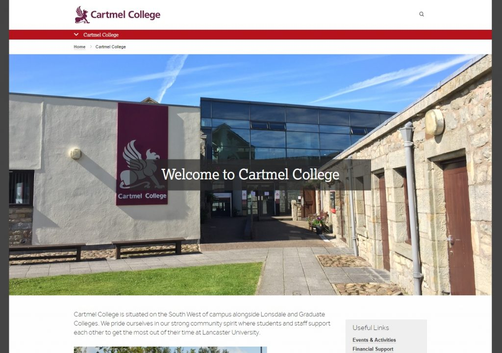 New Cartmel College website, launched December 2018