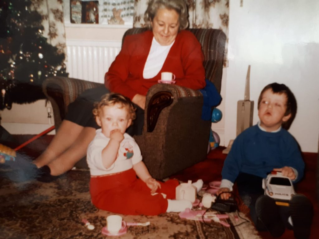 Nan in the late 1980s. There I am on the right!