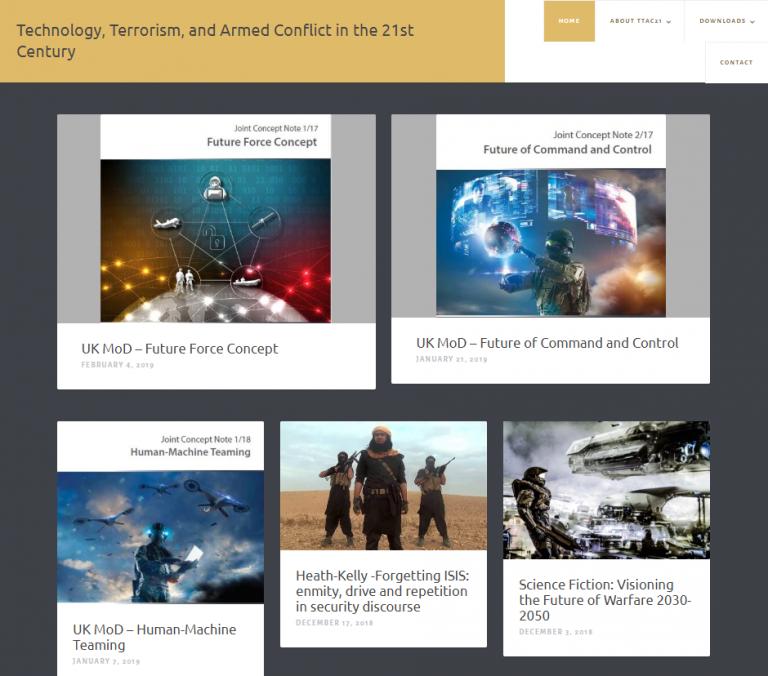 Screenshot of TTAC21 website, February 2019