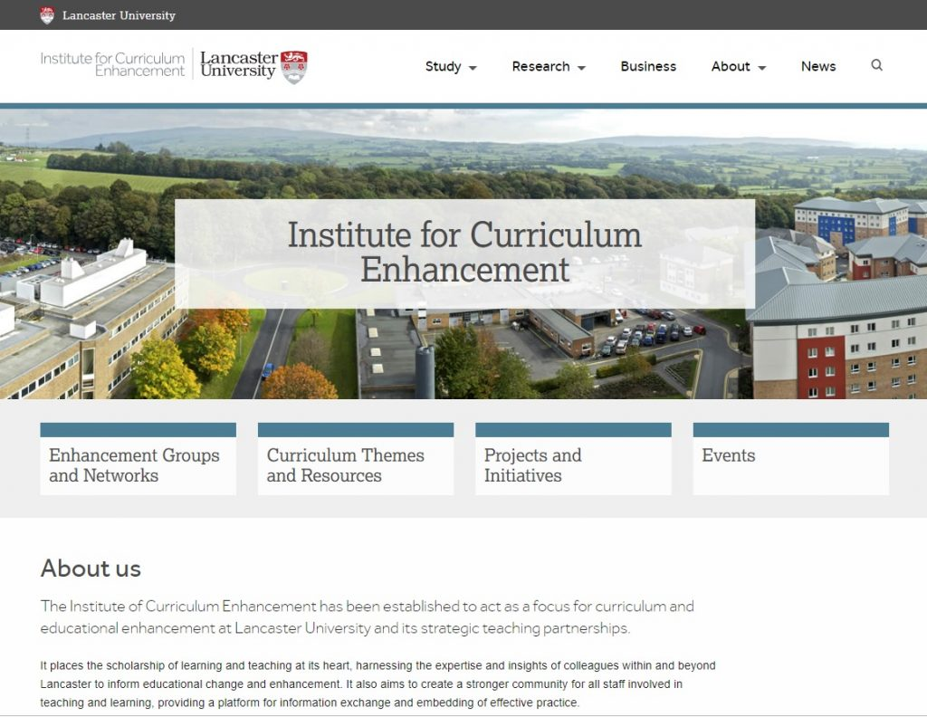Institute for Curriculum Enhancement