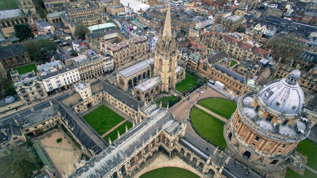 Aerial view of a university. Photo by Sidharth Bhatia on Unsplash